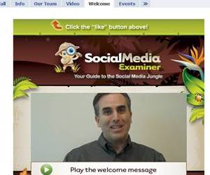 Social Media Examiner Welcome Tab