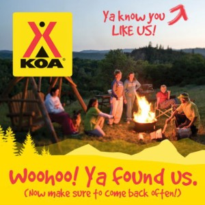 KOA Facebook Welcome tab
