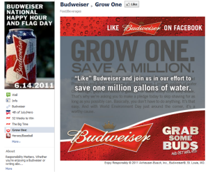 Budweiser Grow One Facebook Campaign