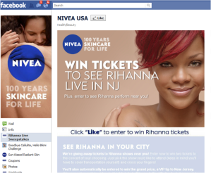 Rihanna Facebook Sweeptakes