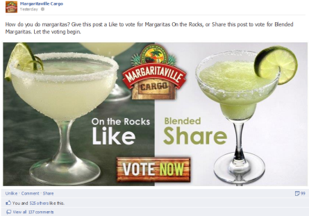Margaritaville Cargo Facebook image